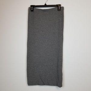Leith gray pencil midi skirt size M